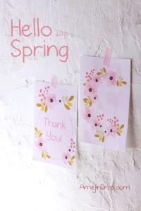 花柄カードデザイン制作