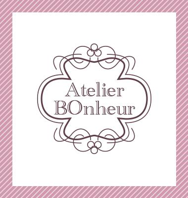 ロゴ制作事例 Atelier Bonheurさま